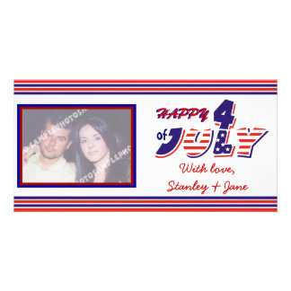 Fourth Of July Personalized Photo Card