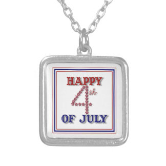 Fourth Of July Stars Patriotic Necklace