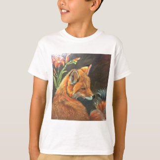 fox landscape paint painting hand art nature tshirt