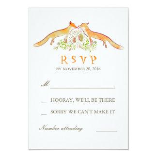 Fox Love Wedding RSVP Cards 9 Cm X 13 Cm Invitation Card