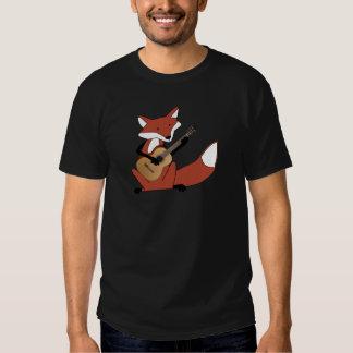 Fox Playing the Guitar Tshirt