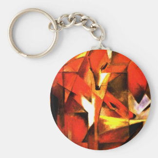 Foxes by Franz Marc Fine Art Basic Round Button Key Ring