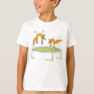 Foxes on Trampoline T Shirts