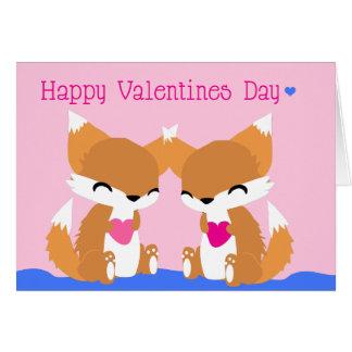 Foxy Foxes Fox Valentines Card