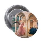 Fra Angelico- Annunciation 6 Cm Round Badge