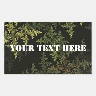 Fractal Camouflage Rectangular Sticker