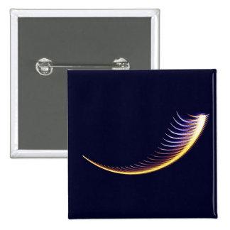 Fractal Shofar 15 Cm Square Badge