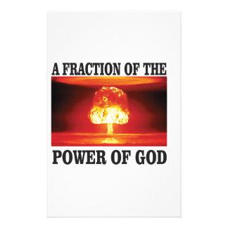 fraction of power of god customized stationery