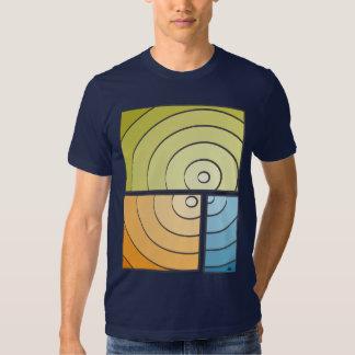 Fragmented Blue T Shirt
