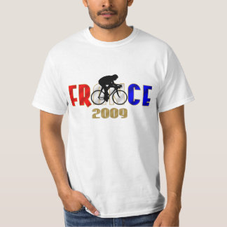 France 2009 Bicycle racing bike cyclist T T Shirt