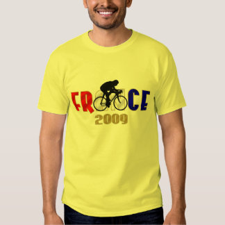 France 2009 Yellow Jersey cycling T for cyclists Tees