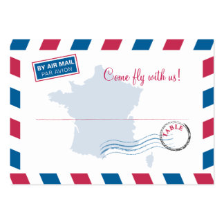France Air Mail Escort/Seating Card Wedding Pack Of Chubby Business Cards