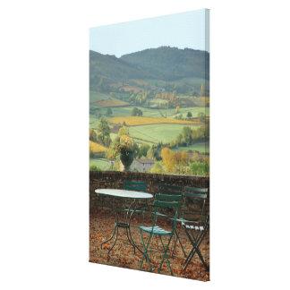 France, Burgundy, Maconnais region, Chateau de Gallery Wrapped Canvas
