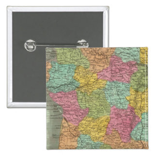 France In Departments 2 15 Cm Square Badge