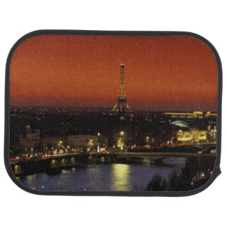 France, Paris Sunset view of Eiffel Tower and Floor Mat