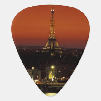 France, Paris Sunset view of Eiffel Tower and Plectrum