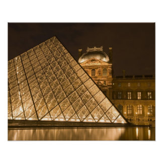 France, Paris. The Louvre at twilight. Credit 2 Poster
