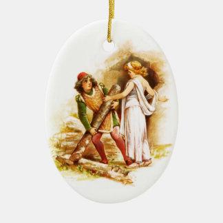 Frances Brundage: Ferdinand and Miranda Ceramic Oval Decoration