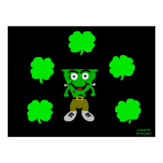 FrankenCheese St. Patrick's Day Poster