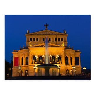 Frankfurt -Opera at twilight postcard