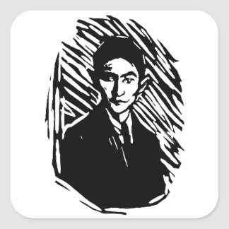 Franz Kafka Portrait Square Sticker