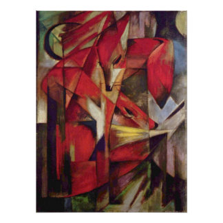 Franz Marc - Foxes Poster