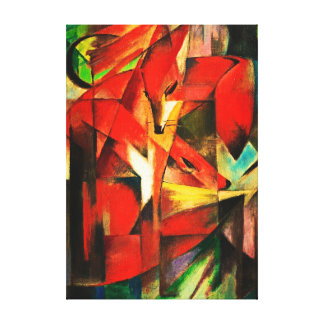 Franz Marc The Foxes Red Fox German Expressionism Stretched Canvas Print