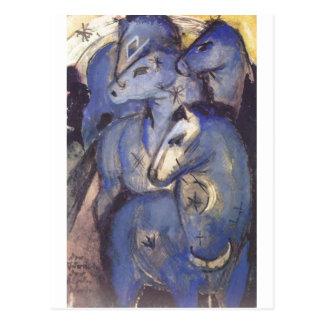 Franz Marc - Tower of Blue Horses 1913 Equestrian Postcard
