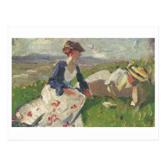 Franz Marc - Two Women on Mountain 1906 Female Postcard