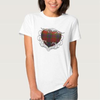Fraser Tartan Heart T-shirts
