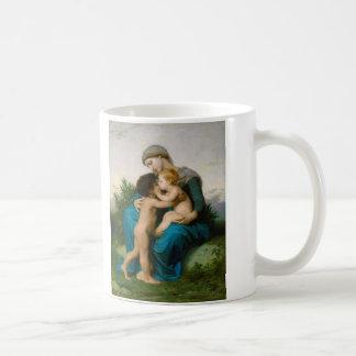 Fraternal Love by William Adolphe Bouguereau Basic White Mug