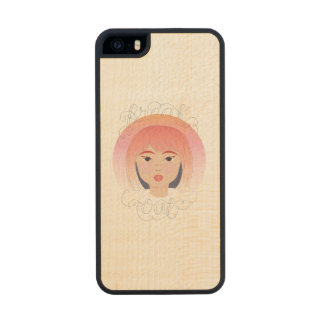 Freak Out: Drawing of a Girl Wood iPhone SE/5/5s Case