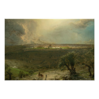 Frederic Edwin Church - Jerusalem from the Mount Photograph