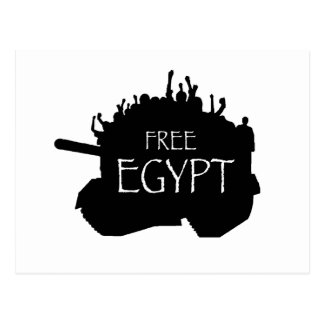 Free Egypt w/ Protesters Postcard