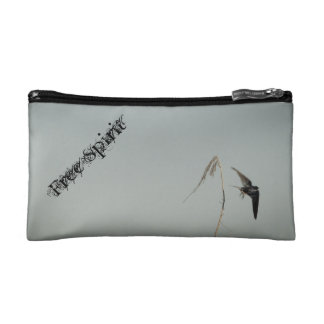Free Spirit - Barn swallow in flight Cosmetic Bags