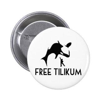 Free Tilikum Save the Orca Killer Whale 6 Cm Round Badge