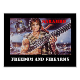 FREEDOM AND FIREARMS POSTER