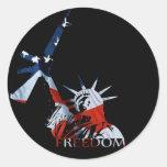 Freedom - Got guns? (Large Dark) Round Sticker