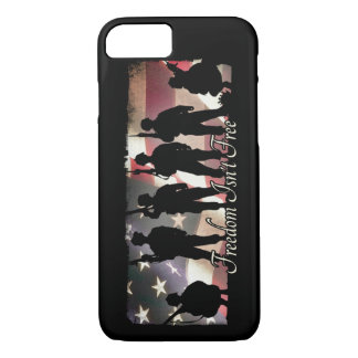 Freedom Isnt Free Military Army Soldier Silhouette iPhone 7 Case