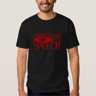 Freedom Of Speech - red 2 Tees