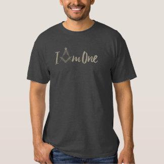 "Freemasonry ""I Am One"" Square Compass Tee Shirt"