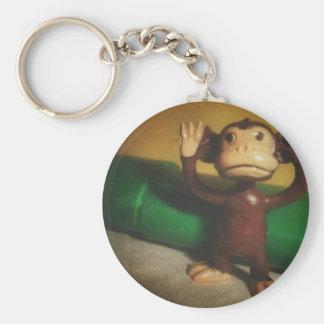 Freeze Monkey! Basic Round Button Key Ring