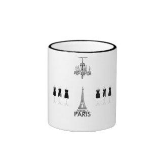 French Black & White Eiffel Tower Paris Themed Mug