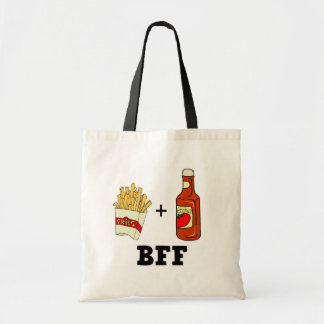 French fries & Ketchup BFF Budget Tote Bag