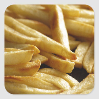French Fries Square Sticker
