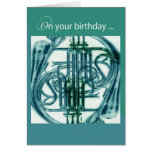 French Horn Birthday Greeting Card