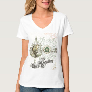 French Inspired Shabby Chic Bird Cage Tshirt