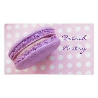 French Macaron Pastry Business Card