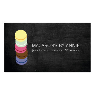 FRENCH MACARON STACK LOGO III Bakery, Pastry Chef Pack Of Standard Business Cards