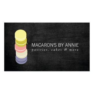 FRENCH MACARON STACK LOGO IV Bakery, Pastry Chef Pack Of Standard Business Cards
